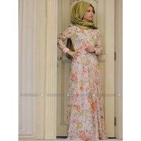 Hidschab Kleid - Lachsfarben - Zehrace