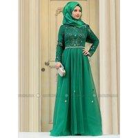 Hidschab Abendmode - Grün - Zehrace