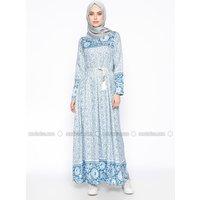 Hidschab Kleid - Royalblau - Zamane S.Ç