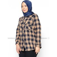 Große Größen Bluse/Hemd - Nerzbraun - RMG