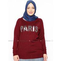 Große Größen Bluse/Hemd - Bordeauxrot - RMG