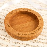 Personalised Earned This Wine Wooden Bottle Coaster - Forever Bespoke Gifts