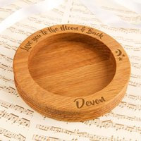 Love You to the Moon Customised Wooden Wine Bottle Coaster - Forever Bespoke Gifts