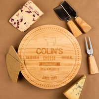 Engraved Handmade Cheese Design Cheeseboard - Cheese Gifts