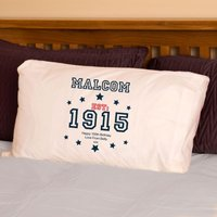100th Birthday Established Since (Year) Pillowcase For Him - 100th Birthday Gifts