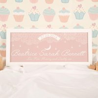 Baby Pink Starry Sky Name Frame - 1st Birthday Gifts