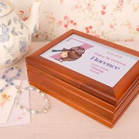 Owl 7th Birthday Customised Musical Jewellery Box - Jewellery Box Gifts
