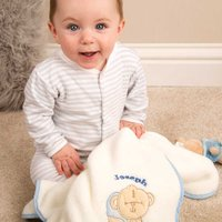 Personalised Baby Blanket: Baby Boy - Blanket Gifts