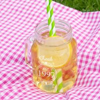 Personalised 18th Birthday Glass Mason Jar For Her - 18th Gifts