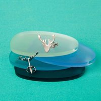 Brushed Silver Stag Earrings - Stag Gifts