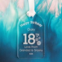 Personalised 18th Birthday Gift Tag: Circles - 18th Gifts