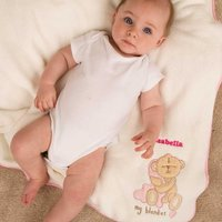 Personalised Baby Blanket: Baby Girl - Blanket Gifts