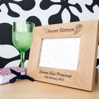 Sweet Sixteen Wooden Frame - 16th Birthday Gifts