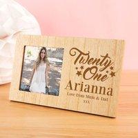 Customised 21st Birthday Photo Frame - 21st Gifts