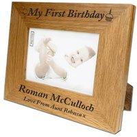 Bespoke 1st Birthday Oak Frame - 1st Birthday Gifts