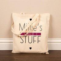 Personalised Bag of Stuff Cotton Shopper - Stuff Gifts