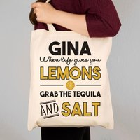 Tequila Themed Custom Made Tote Bag - Tequila Gifts