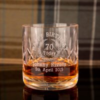 Personalised 70th Birthday Whisky Glass - 70th Birthday Gifts