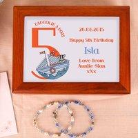 Badger 5th Birthday Customised Musical Jewellery Box - Jewellery Box Gifts