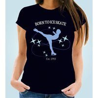 Born to Ice Skate Bespoke Navy T-Shirt - 16th Birthday Gifts