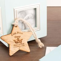 Prince Wooden Star - 1st Birthday Gifts