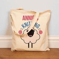 Printed Knitting Storage Bag - Knitting Gifts