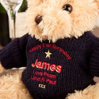 Personalised 21st Birthday Teddy Bear - 21st Gifts