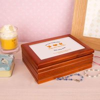 Confirmation Jewellery box: Orange - Jewellery Box Gifts
