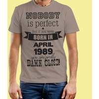 Nobody is Perfect Mens Grey Custom Tee - Custom Gifts