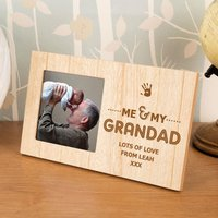 Personalised Me and My Grandad Wooden Photo Frame - Grandad Gifts