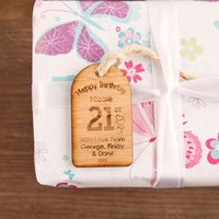 Personalised 21st Birthday Gift Tag - 21st Gifts