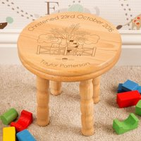 Personalised Farmyard Wooden Stool for Boy or Girl: Christening - Christening Gifts