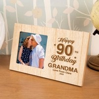 Personalised 90th Birthday Photo Frame - 90th Birthday Gifts