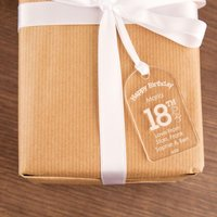 Engraved 18th Birthday Gift Tag: Hearts - 18th Gifts