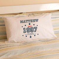 Boys 18th Birthday Established Since (Year) Pillowcase - 18th Gifts