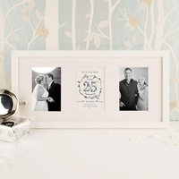 Personalised 25th Silver Wedding Anniversary 3 Aperture Frame - Silver Wedding Anniversary Gifts