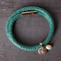 Personalised Turquoise Leather Bracelet - Turquoise Gifts