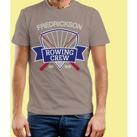 Rowing Emblem Mens Personalised Grey T-Shirt - 16th Birthday Gifts