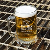 Awesome Best Man Customised Glass Beer Tankard: Special Offer - Best Man Gifts