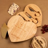 Love You More Than Cheese Personalised Cheeseboard - Cheese Gifts