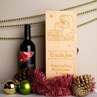 Personalised Christmas Wine Box - Forever Bespoke Gifts