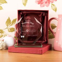 Personalised Naming Day Cut Glass Skye Facet - Naming Day Gifts