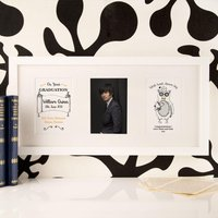Personalised Work Hard Dream Big Graduation 3 Aperture Frame - Work Gifts