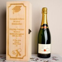 Graduation Wooden Wine Box - Forever Bespoke Gifts