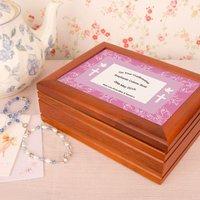 Confirmation Jewellery box: Pink Border - Jewellery Box Gifts