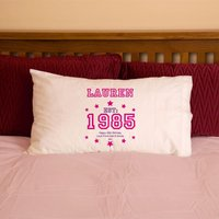 30th Birthday Established Year Pillowcase For Her - 30th Gifts