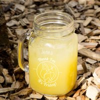 Thank Fox its Friday Custom Glass Mason Jar - Custom Gifts