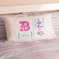 Personalised 70th Birthday Letter Pillowcase For Her - 70th Birthday Gifts