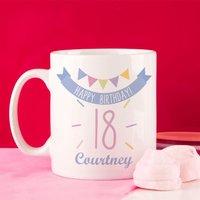 Girls 18th Birthday Bunting Mug - 18th Gifts