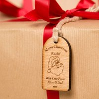Personalised Christmas Wooden Tag: Santa - Forever Bespoke Gifts